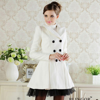 Jackets Women other Yarn skirt outerwear 2011 autumn and winter women white woolen overcoat wool cashmere trench