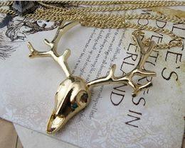Wholesale Sweater Chain Necklaces Cheap - 10%off Classic deer sweater chain necklace necklaces jewelry fashion jewelry jewelry wholesale necklace sale cheap new.12pcs.M