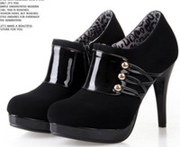 achat en gros de bottes sexy jaune-Chaussures à talons hauts de haute qualité noir