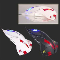 Wholesale Fast Shipping Airplane Aircraft Jet Computer Notebook PC D Optical Mouse Wired Mice LED Lights