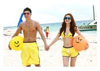 Wholesale swimwear Lovers short pants swimming China lovers shorts Fashion board shorts for men women quick drying yellow pants BIKINI set