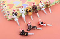 Wholesale The Dog Cat shook his head lovely animal Anti dust Dustproof Plug Stopper for Iphone Ipad Ipod Touch Samsung Blackberry cellphone