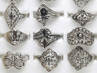 Alloy Rings assorted jewellery - Ring Jewelry Mix Tibet Silver Rings Vintage Assorted Rings Rings Jewellery Charm F03