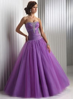 Organza purple plus size wedding dresses - A line Empire Sweetheart beautiful classic purple evening dress wedding dress prom dresses prom dresses cocktail dresses Plus Size Graduatio