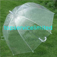 Plastic apollo shipping - Hot Selling Fashion Apollo Transparent Umbrella Clear Bubble Umbrella Gossip Girl Mushroom Umbrella