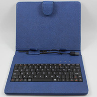Wholesale Multi Color Inch Leather Case With USB Keyboard Case Protective Cover For Inch Android Tablet PC MID