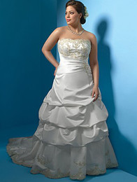Wholesale 2012 High Quality Strapless Chic Appliques Floor Length Sleeveless Wedding Dresses Bridal Gowns Mother Dresses BA00178