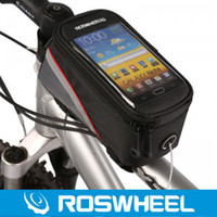 M bicycle earphones - ROSWHEEL with Earphone slot Waterproof Cycling Sport Bike Bicycle Frame Pannier Front Tube Bag inch for S3 inch for Note2 N7100