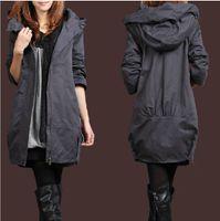 Women Cotton Punk / Rock / Hip-hop Fashion 2013 new dust coat han2 ban3 cotton-padded clothes medium style coat trench coat