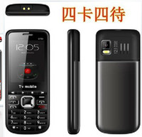 Wholesale Unlocked Quad Band SIM Card analog TV flashlight Dual TF slot music cell phone COLOUR