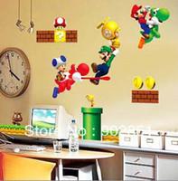 PVC art deco graphic - funlife Super Mario bros Boy Room Kids Room Nursery Art Decal Mural Wall Sticker Deco