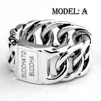 Wholesale Freeshipping Fashion Jewelry Sterling Silver Euramerican Netherlands Style Mens Womens Buddha Class Ring