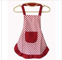 Wholesale Korean cute dot baby fashion children s aprons painting canvas aprons show cooking aprons