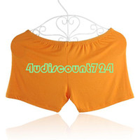 Men Capris Harem Pants EQZ200 Belly Dance Safety Comfortable Shorts Pants Trousers Costume Free Size Orange
