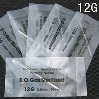 Wholesale New Coming sterilized body piercing needles staineless guage for tattoo supplier