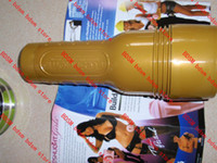 Realistic Vaginas   48pcs TIN package Fleshlight Pink inside particle shape in can gold color