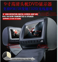 Wholesale 1 pair Inch Headrest Car DVD player with FM USB SD Slots game