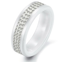 real diamonds - REAL DIAMOND CERAMIC RINGS MEN S JEWELRY FASHION ACCESSORIES SIZES SLECTABLE PURE WHITE USA WAREHOUSE