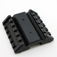 Wholesale Dual Offset Rail Interface Mount Base For M4 M16 Series Airsoft Electric Gun Hot Sale OT0422 BK