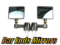 Wholesale Folding Bar End Motorcycle Mirror Motorbike quot CNC Aluminum Black Rectangle