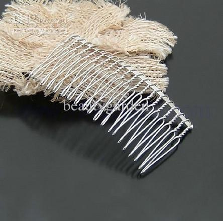20 tooth twist wire metal silver hair comb wedding bridal for Metal hair combs for crafts