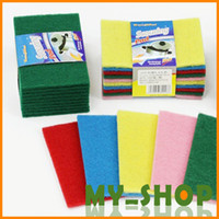 Wholesale Home essential color scouring pad dish cloth cleaning cloth washing towels daily JJ0045
