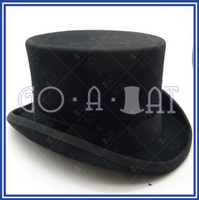 Wholesale Classic Vintage Wool Felt Gents Formal Tuxedo Topper Top Hat BLACK