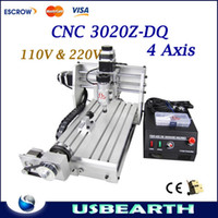 CNC 3020Z-DQ 4 Axis axis milling machine - W CNC Z DQ D Design Mini Axis Engraving Machine Drilling Milling Carving Router For PCB Wood amp Other Materials