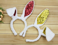 adult rabbit mask - 25pcs Shinning Many Colors Rabbit Costume Bunny Ears Bunny Costumes for Halloween Paryt MA34