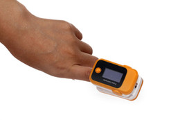 Wholesale Color OLED Fingertip Pulse Oximeter with Audio Alarm amp Pulse Sound orange