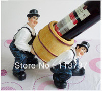 Wholesale Fashion Bartenders Carry Wine Polystone Wine Glass Bottle Holder and Home Decorative Wine racks