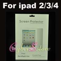 Wholesale 100pcs Matte Anti Glare Anti Glare Clear Screen Protector With Retail Package For ipad