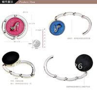 Wholesale 5pcs New Fashion Mix Color CZ rhinestone shoes folding purse hook handbag holder bag hanger jewelry