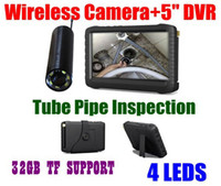 Wholesale 2 GHz LED Nightvision Tube Pipe Inspection Wireless Mini Hidden Camera inch HD LCD Mini DVR Kit