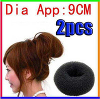 Hair Roller big hair bun donut - For Ladies Headwear Tool Big Black Soft Hair Bun Ring Donut Forner Styling Styl