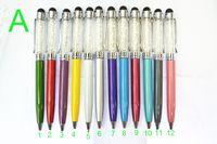 Wholesale 2in1 Crystalline Diamond Touch Screen Stylus BallPoint Pen Glitter Pens for iphone ipad samsung
