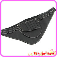 Perm Tools leather tool belts - professional Hairdressing Scissors Tools Leather Holder Holster Waist Belt Pouch Bag pockets Free