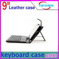 Wholesale DHL Leather Folding Keyboard Cases with stand inch leather case for inch tablet pc RW L12 A