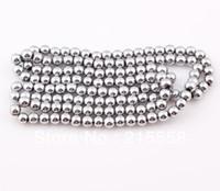 al por mayor hematita collar-Venta caliente 6mm Blanca Magnética Hematita granos flojos redondos de plata del color del hematites Bolas Fit Shamballa pulsera collar ZBE15