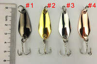 Wholesale New arrival Fishing Spoon Lures cm g hooks spinner Hard Bait Spoons metal Fishing Lure fly fishing