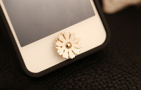 Wholesale alloy button stickers chamomile flowers style for Iphone G S G IPAD