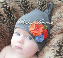 Wholesale NEW Baby Amour hats boys girls lonely Nifty cap Infant cute flower Hat baby accessories headwear
