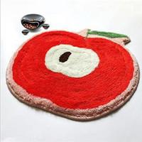 earthing mat - Red apple ground mat floor mat earth carpet Lovely cushion DA6413A