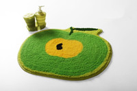 Wholesale green apple ground mat floor mat earth carpet Lovely cushion DA6413A