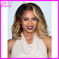 other Brazilian hair wavy Human hair full lace wig two tone Brazilian virgin hair celebrity wigs Ciara same wig full lace wigs can be made glueless cap