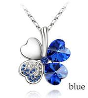 Women's broken glass - Price Austrial Crystal Four Leaf Necklace Crystal Clover Necklace for Women Break Down Price Fashion Jewelry