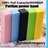 Wholesale 2600MAH Perfume mobile power Charger portable Emergency power bank for Mobile