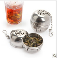 Wholesale Min Order mixed order Retail thicken stainless steel seasoning ball soup ball hot pot spices tea filter DM