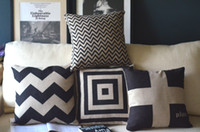 Wholesale Classic retro black and white cushion cover minimalist Scandinavian England pillow cover sofa cushion FreeShipping