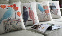 Wholesale 18 quot quot American village flowers and birds pillow cushion sofa cover